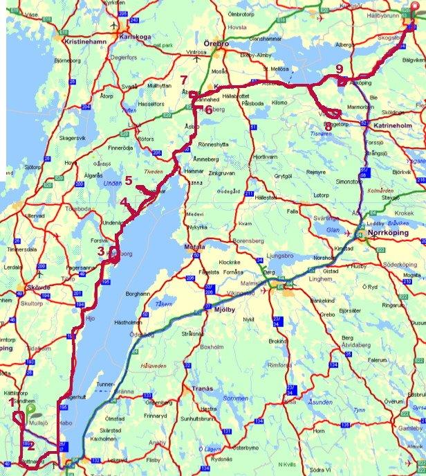 karlsborg karta Sträckan från Mullsjö … – Lotten karlsborg karta