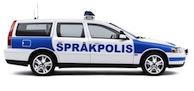 Språkpolisbil