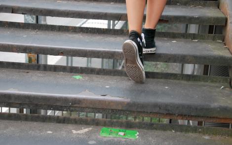 Denna trappa ledde oss till Fotografiska.