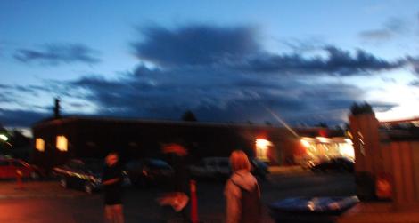 Mystiskt moln över vallokalen.