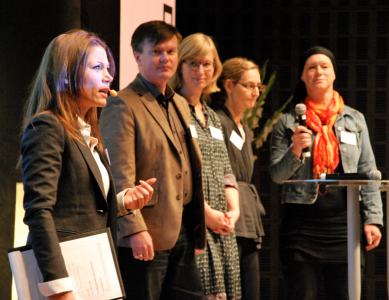 Tilde de Paula, Ola Johansson, Karin Sten Pettersson, Camilla Lindholm och Charlotta Carlberg Eriksson.