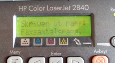 """""""Skriver ut rapp: Faxsamtalsrapp,"""" (NEJ! Nu får vi aldrig veta vad som kommer efter det där kommatecknet!)"""