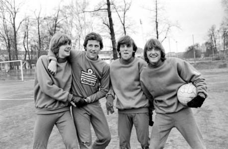 Precis som i fotboll. Men även här vinner fotbollen enligt min enkla mening: Glenn Strömberg, Glenn Hysén, Glenn Holm och Glenn Schiller (1980). (Foto: Lennart Månsson)