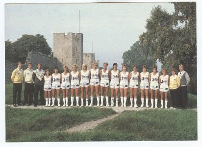 Titta så fint! Visby AIK Basket 1985/86! Långa strumpor och korta shorts!