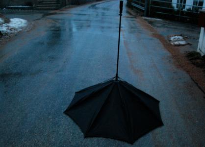 Gårdagens paraply.