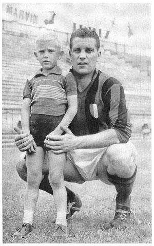 Thomas och Gunnar Nordahl runt 1950.