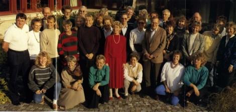 NE-redaktionen våren 1989.