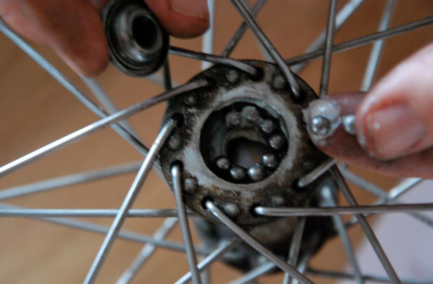 byta lager cykelhjul