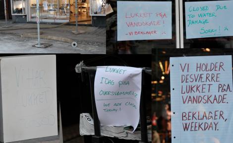 Det andra som mötte oss var stängda butiker.