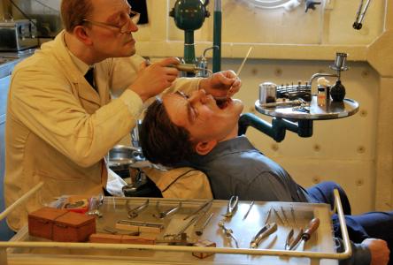 Tandläkaravdelningen på HMS Belfast. (Nu förstår ni att bilden i gårdagens inlägg var från sjukstugan.)