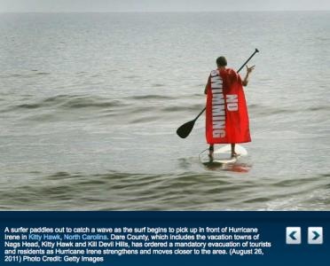 Vaddå farligt att surfa, jag är ju Stålmannen.