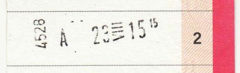 Jag tror att 4528 är en kod för stationen som har stämplat.