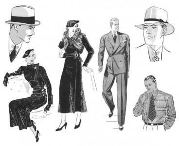 Om man nu kan säga att ett helt årtionde har ett mode, så är detta 1930-talets.