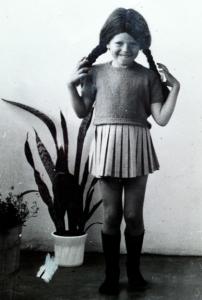 Denna kjol hörde inte till utklädningen utan var av normallängd 1969.