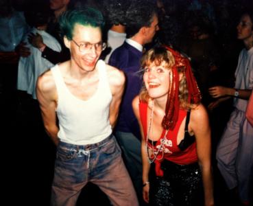 En punkare som hette Ulf (numera professor i teoretisk kemi) och Madonna-Lotten 1986.