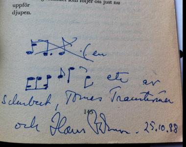 Jag har inte många autografer, men i alla fall dessa två och Stellan Bengtssons.