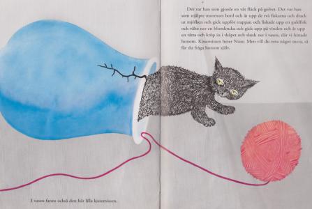 Trettonde uppslaget: Någon var ju en katt! Som heter Nisse!