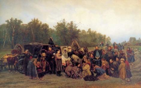 """""""Mötet med ikonen"""" av Konstantin Savitskij. (Observera karln längst till vänster som snyter sig i handen som änna orienterare.)"""