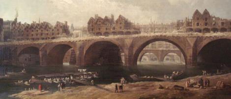 Husen på bron rivs.