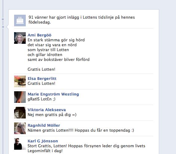 grattis facebook Grattishälsningar på Facebook – tips och tack – Lotten grattis facebook