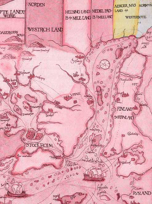 Den här kartan sägs Brask ha ritat runt år 1500.