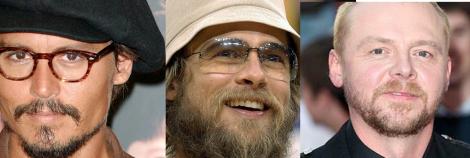 Depp, Pitt, Pegg. Sällan har jag sett så mycket skägg på en gång.