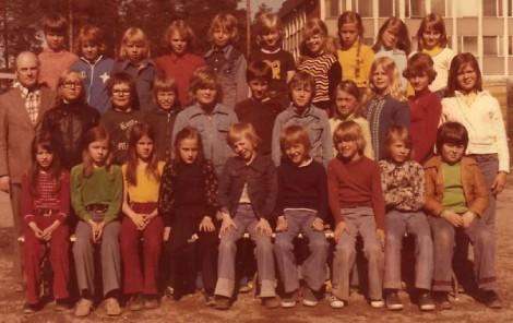 Favoritbild i repris: 4b i Bergviksskolan, Luleå, våren 1975.