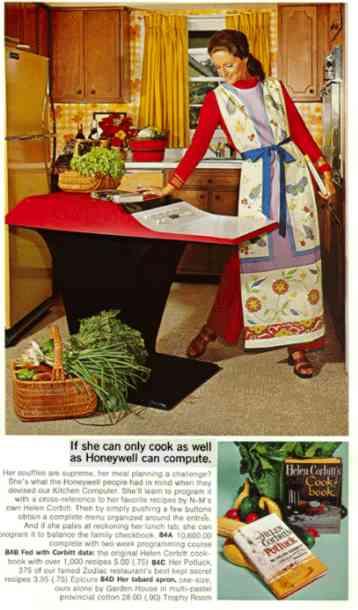 Det tycker jag däremot inte är ett dugg konstigt, för tokiga idéer har alltid funnits. Datorinnehavarinnans klädsel är däremot jättekonstig.