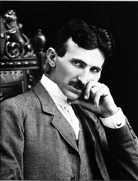 """""""Se ut som om du tänker, men titta hit!"""" (Nikola Tesla 1896.)"""