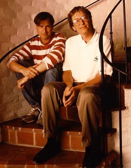 Steve Jobs och Bill Gates 1991.