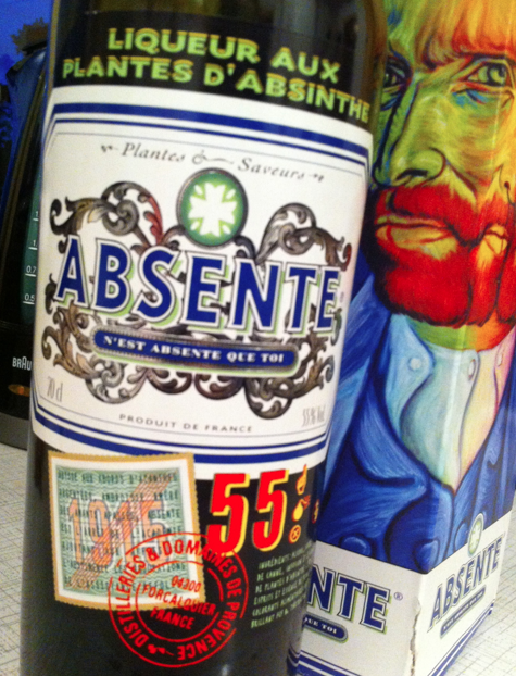 Sedan fann vi absinten, som såg ut så här.
