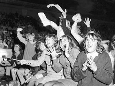 Beatlesfans i London 1965.