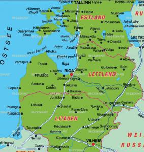 Estland. Lettland och Litauen säger man ju alltid, och det är från norr till söder. Lätt. Men var är mönstret i Tallinn, Riga och Vilnius?