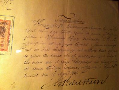 Kongl Majt. skriver brev!