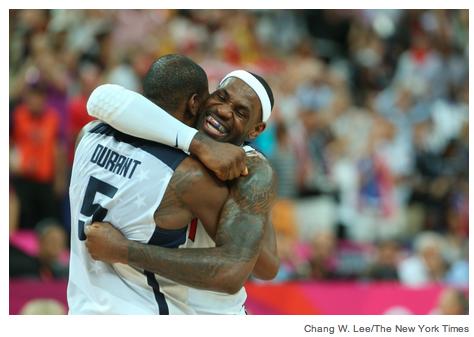Kevin Durant och LeBron James har muskler, ja.