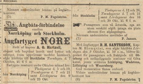 Se vid den pekande handen: passagerare som ska åka med ångfartyget Norge får sätta sig på sin plats kvällen före avfärd om de vill utan att det kostar extra!