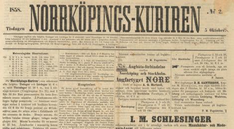 Norrköpings-Kuriren med fläckar och allt!