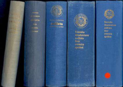 SAOL 9–13 (1950, -73, -86, -98, -06).