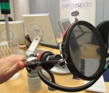 Puffskydd som har tillverkats för hand av befintligt material i Radiohuset.