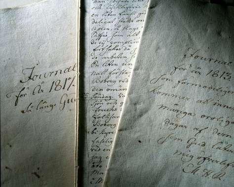 Årstafruns handstil.