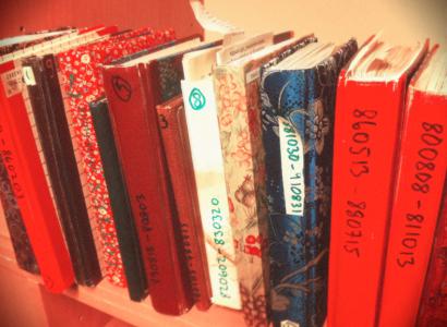 Några av mina dagböcker.