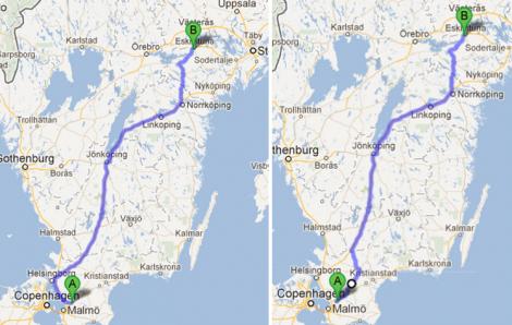 Men jag vill inte inleda resan med att åka åt fel håll! sa jag till kartan. Som inte svarade.