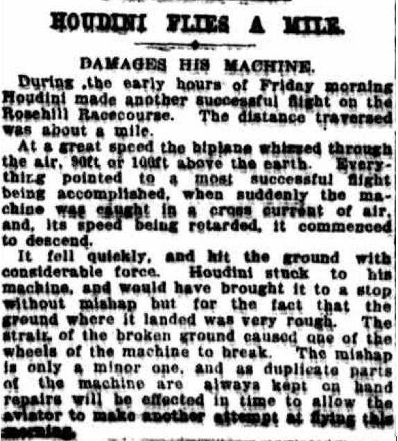 N.Y. Times i april 1910.