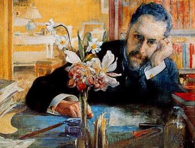 Oscar Levertin 1906. (Målad av Carl Larsson.)