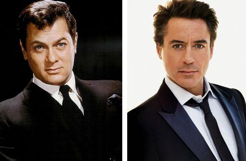 Tony Curtis och Robert Downey Jr hann inte jobba ihop … men å andra sidan såg Tony Curtis inte ut så här på äldre dar.