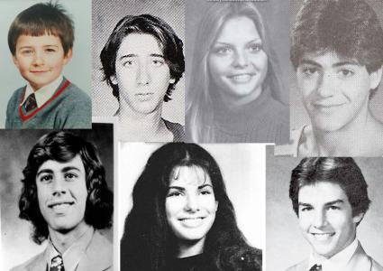 Övre raden: Orlando Bloom, Nicholas Cage, Michelle Pfieffer, Robert Downey Jr. Nedre raden: Jerry Seinfeld, Sandra Bullock, Tom Cruise.