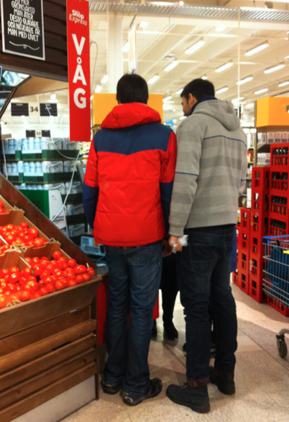 – So we weigh them here? But all the tomatoe are hard, why are they not soft?