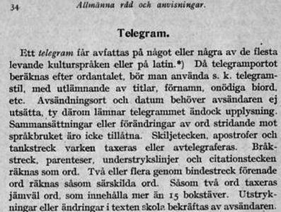 Skrivet av Axel Carlborg för ungefär 100 år sedan.