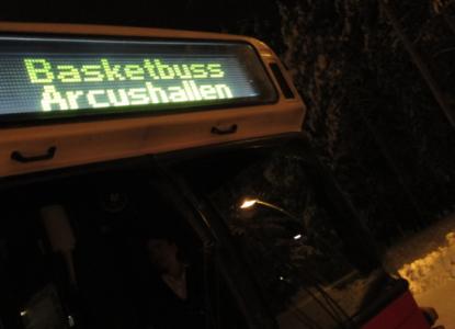 Bussen hemåt var gratis och såg ut så här på utsidan …