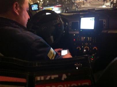 Överallt – även inne i taxin!